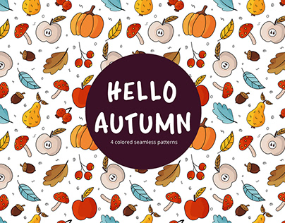 Autumn Vector Free Seamless Pattern