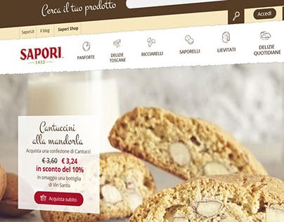 Website e-commerce for Sapori