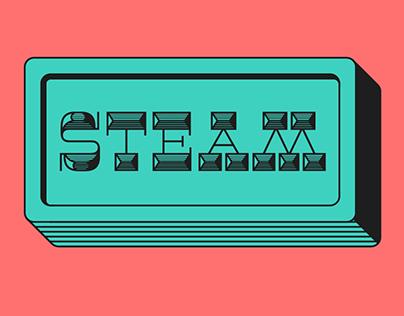 Steam Typeface