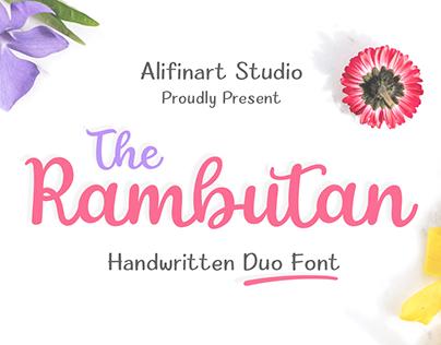The Rambutan Handwritten Duo Font