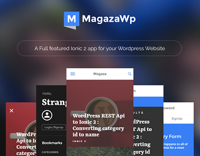 Magaza - Ionic Theme/Starter for news and magazine apps