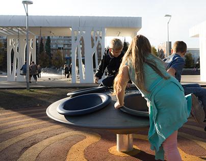 Детское игровое пространство на Фонтанной площади