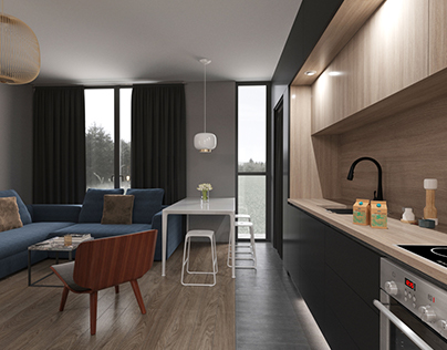 51m² - Interior Design project - Corona render