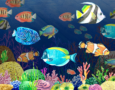 The underwater world of watercolor
