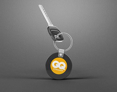 Free Bike Keychain PSD Mockup