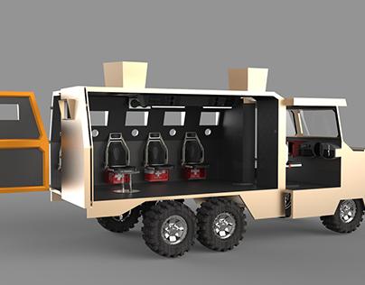 Military Vehicle Interior