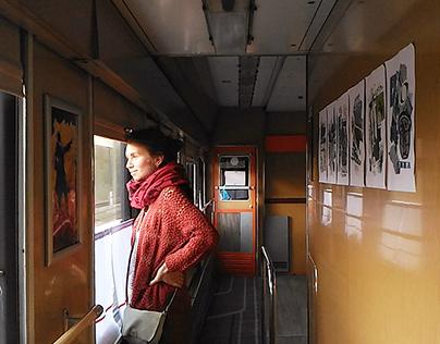 An exhibition in the train /Выставка в поезде