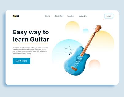 Guitar landing page
