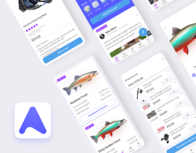 Angler App — UI/UX Design for Mobile