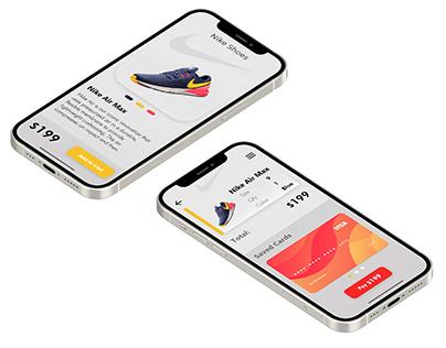 Nike Shoe App - Trendy Ui