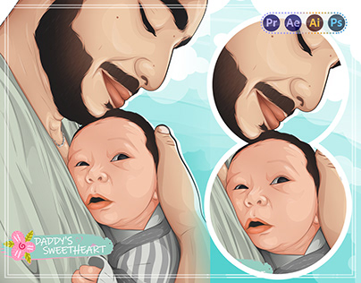Baby Vector Art & Vexel Art - Video steps
