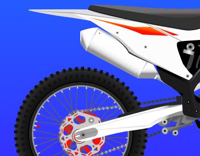 KTM 450 SX-F - Sketch