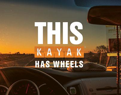 This Kayak has Wheels