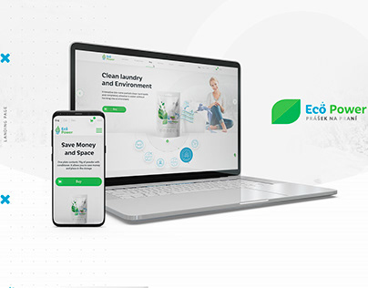 """Landing Page """"Eco power"""""""