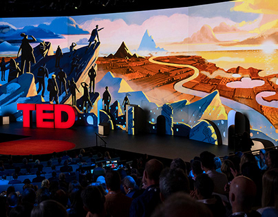 TED 2019 / Stage Illustrations and Visuals