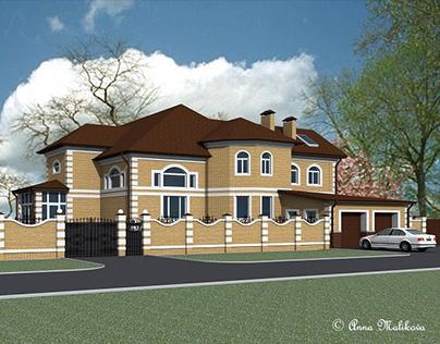 Фасад дома в классическом стиле, г. Ульяновск, 2011 г.