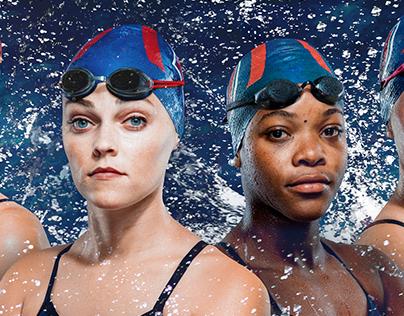 Liberty Swimming & Diving Branding