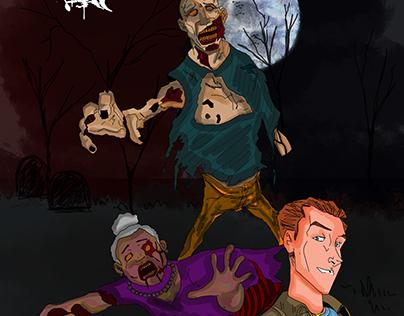Zombie comic cover
