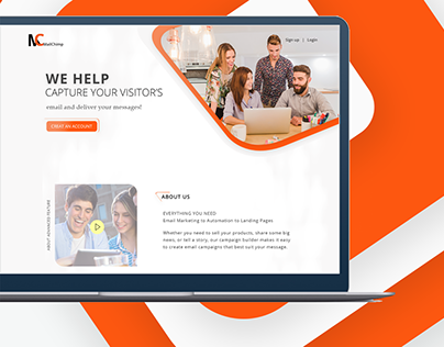 Email Solutions Concept on Mailchimping