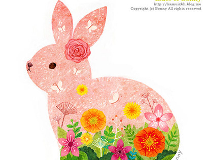 Flower rabbit