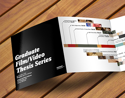 Film thesis show brochure