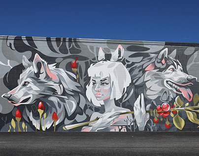 """Wolfberries"" Mural in Greensboro, North Carolina"