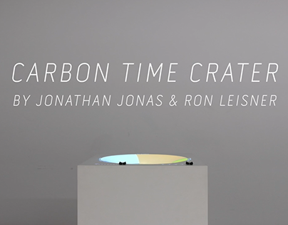 CARBON TIME CRATER –physical data visualisation