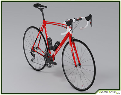 3D Model: Racing Bicycle Animated HQ 003