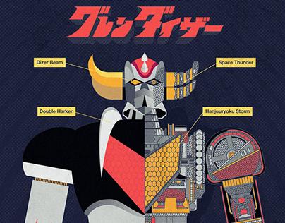 Grendizer - Goldrake poster
