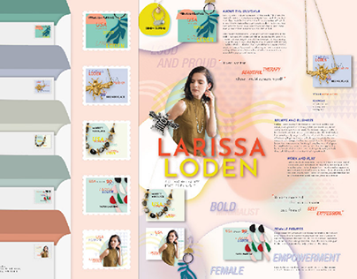 Larissa Loden Commemorative Stamps and Panel