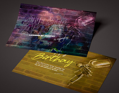 birthday card for KAMATEC company