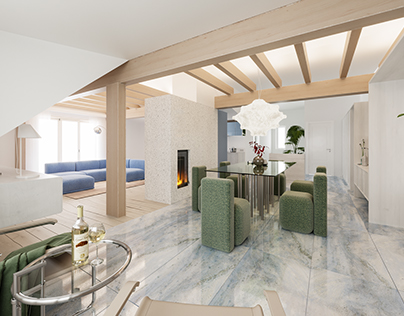 Summer penthouse apartment in Pärnu