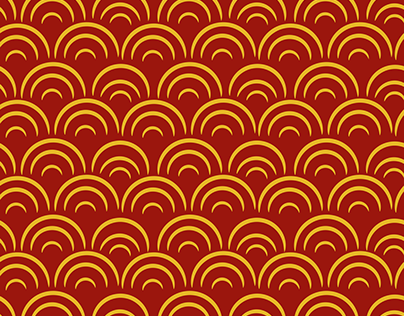 Chinese New Year ornament pattern