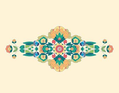 Persian carpet motif