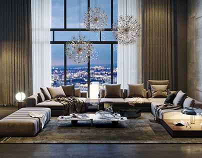 Penthouse dinh_pearl - Style Minotti