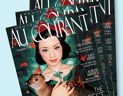Au Courant Magazine {Print/Typography}