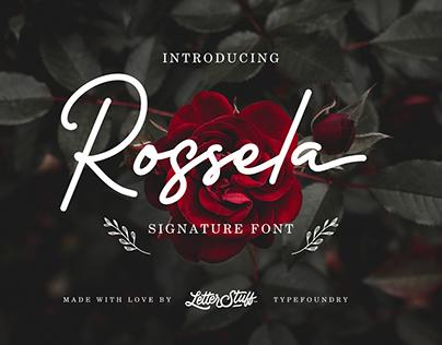 Rossela Signature Font + Extra