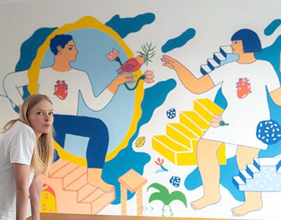 """Mural for """"CARITAS"""""""
