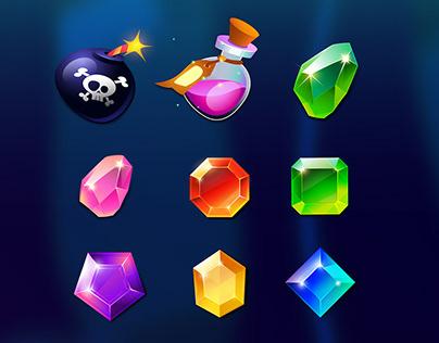 Ocean gems - Match 3 game