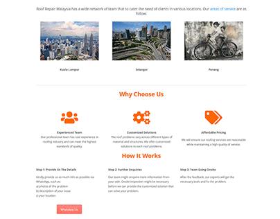 Website Design: Roof Repair Malaysia