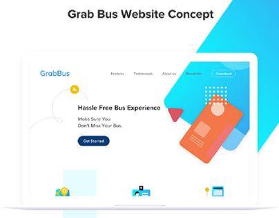 Website: Marketing page for Grab Bus