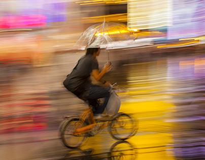 Osaka In The Rain
