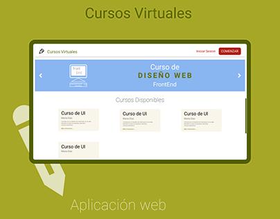 Cursos Virtuales - App web