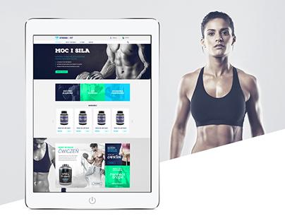 Strong&Fit - supplements e-commerce design