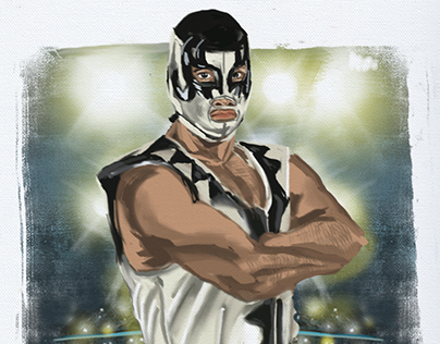 Personal work: Mexican wrestler Universo 2000(r.i.p)