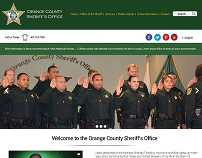 Orange County Police Dept. Website Redesign