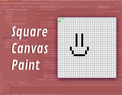 Square Canvas Paint - FullStack developer
