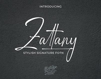 Zattany | Signature Font