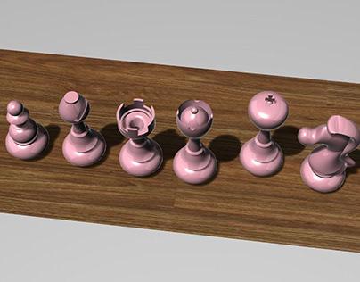 Piezas de Ajedrez 3D