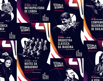 Festival ao Largo Millennium 2017 – Visual Identity